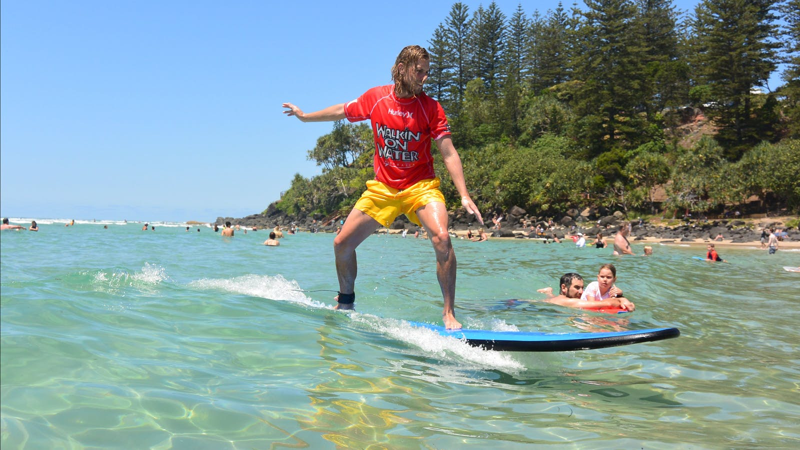 Amazing Coolangatta Learn to Surf Lessons location
