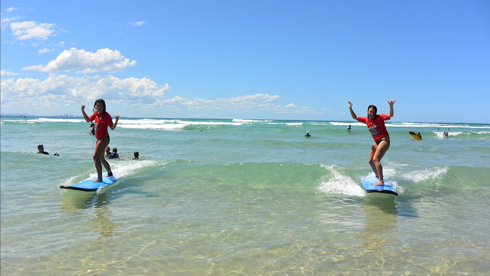 Gold Coast Learn to Surf in crystal clear water with us at Greenmount Beach
