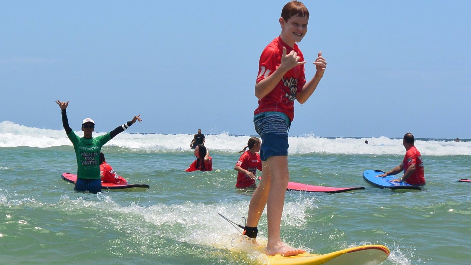 Easy success for everyone in their comprehensive Coolangatta Surf Lessons at Greenmount Beach