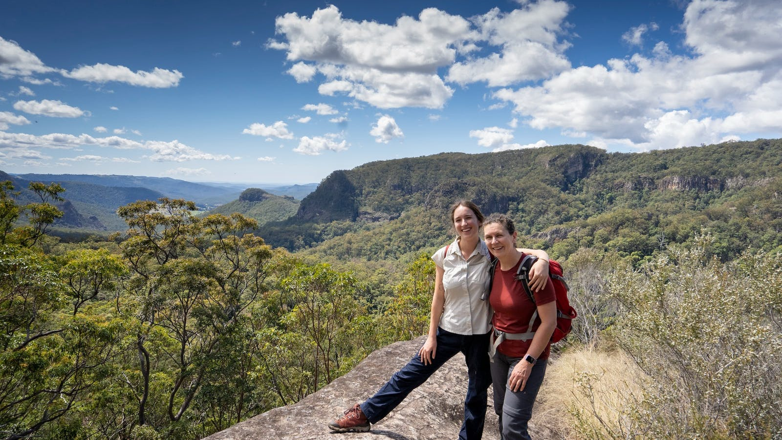 Lisa and Inari, two guides for Binna Burra activities