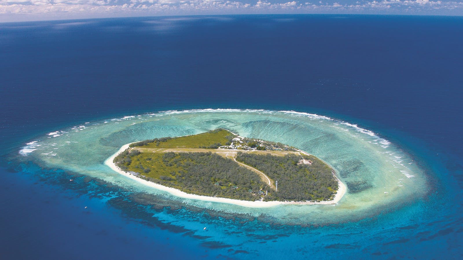 Aerial image of Lady Elliot Island