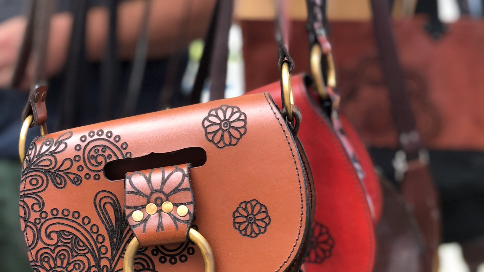 You can always find a new bag at the markets - these ones are handmade leather