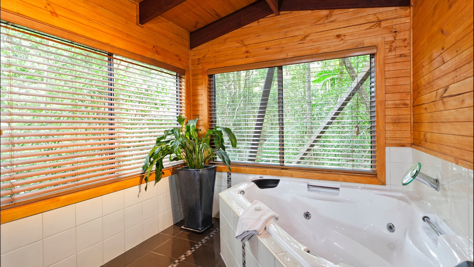 Rainforest Spa and Stream chalet
