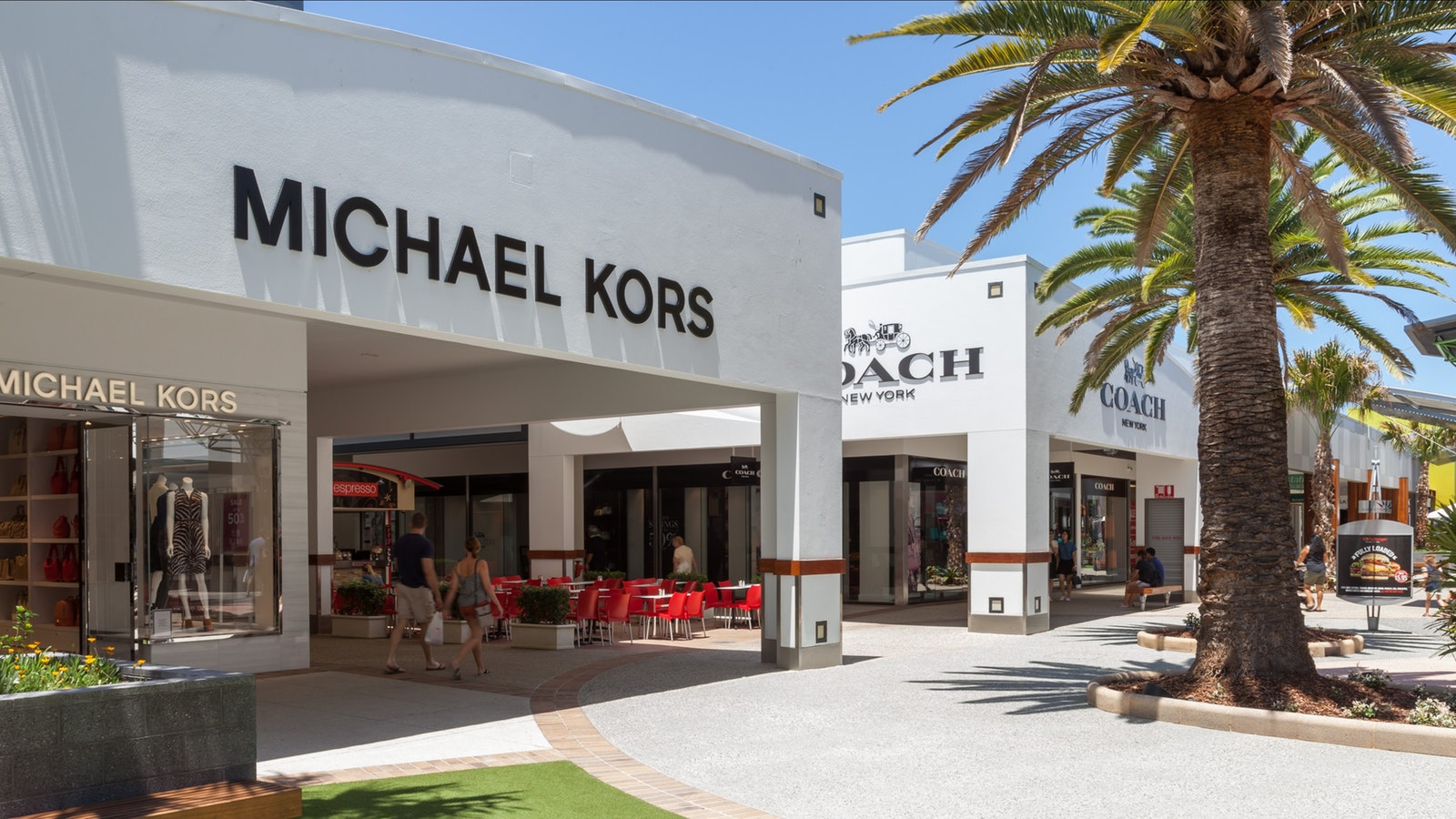 Premium Mall outside Coach and Michael Kors
