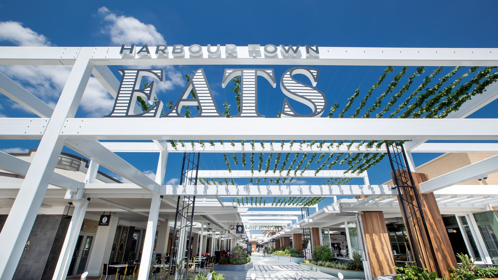 Entry to Harbour Town Eats, a fresh dining destination