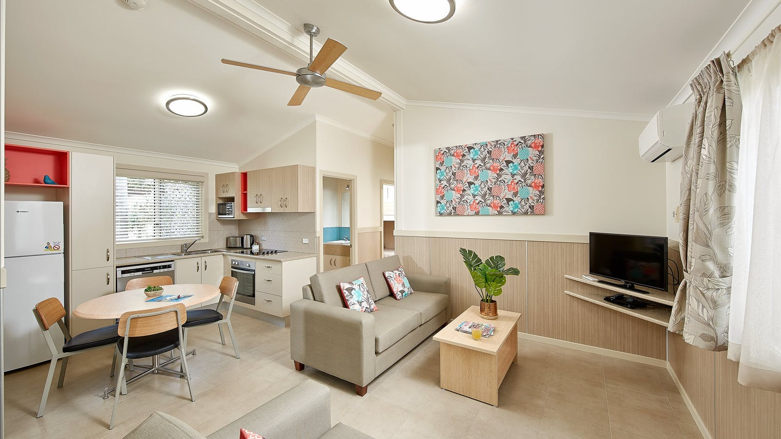 Ashmore Palms' Tropical Family Villa Living Area