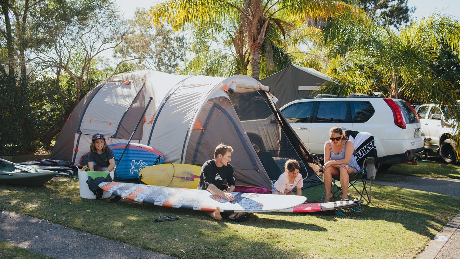 Camping at NRMA Treasure Island Holiday Park