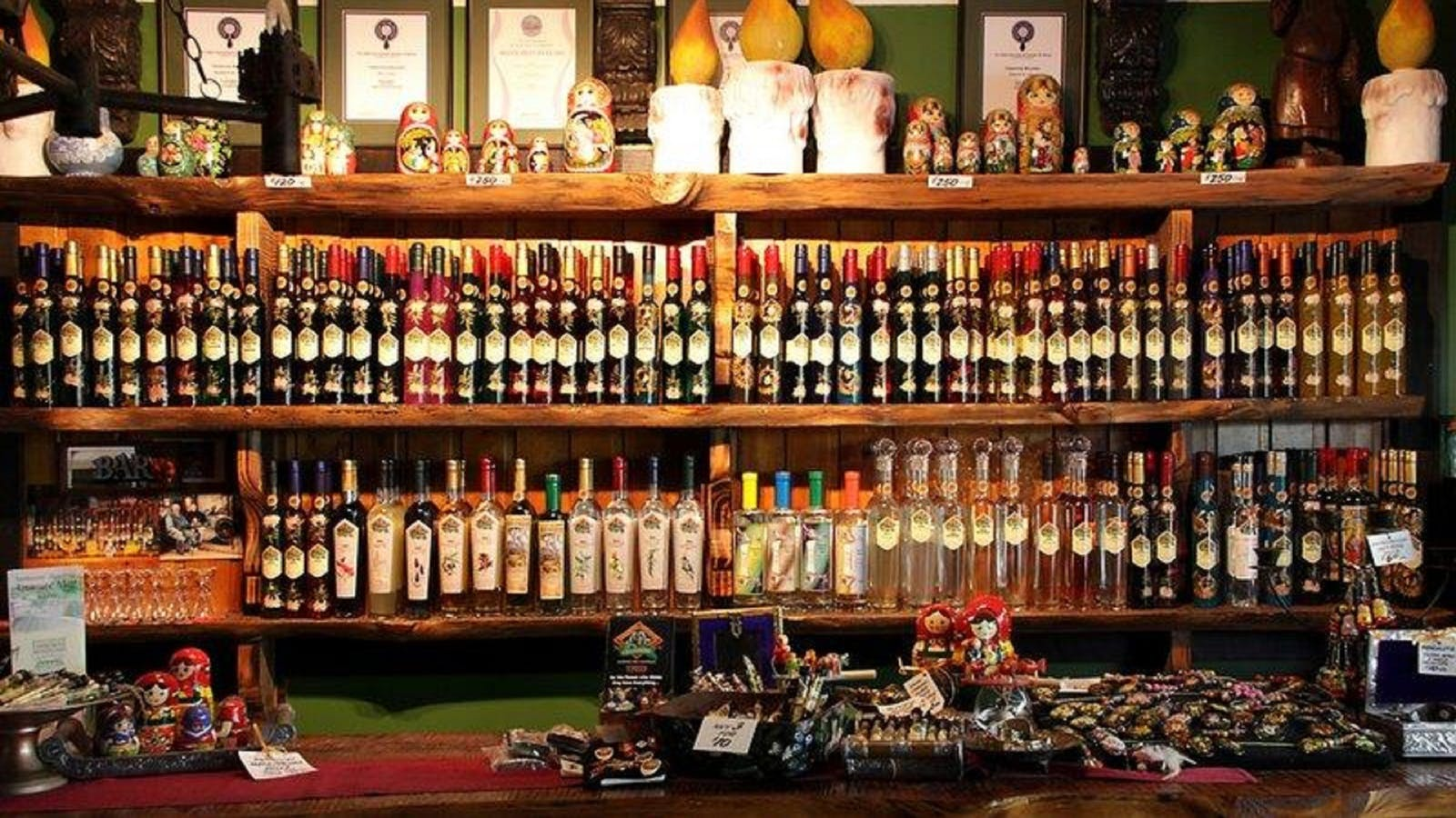 Their range of over 80 liqueurs and handcrafted gifts in their tasting room