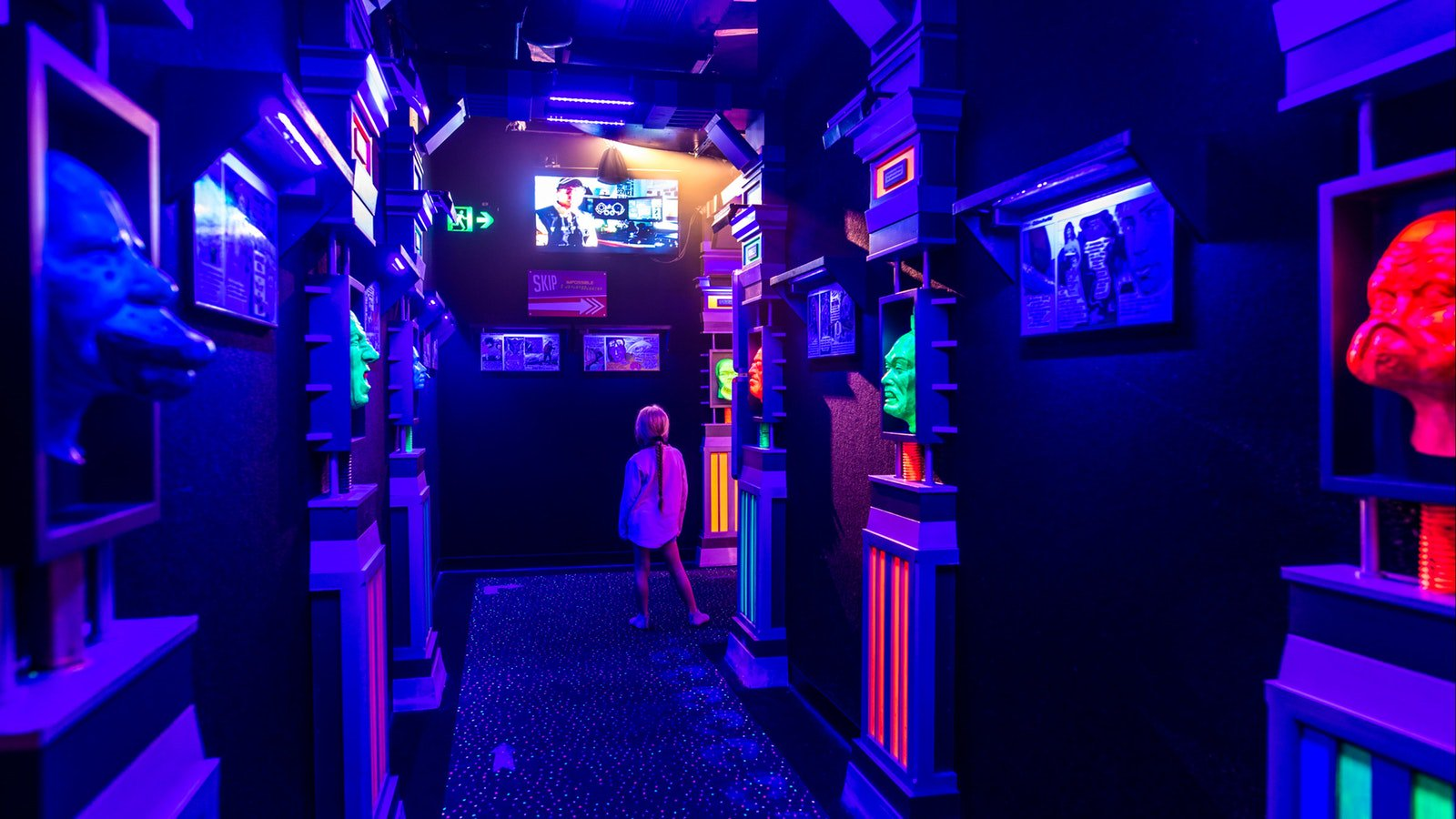 Black Light Hallway