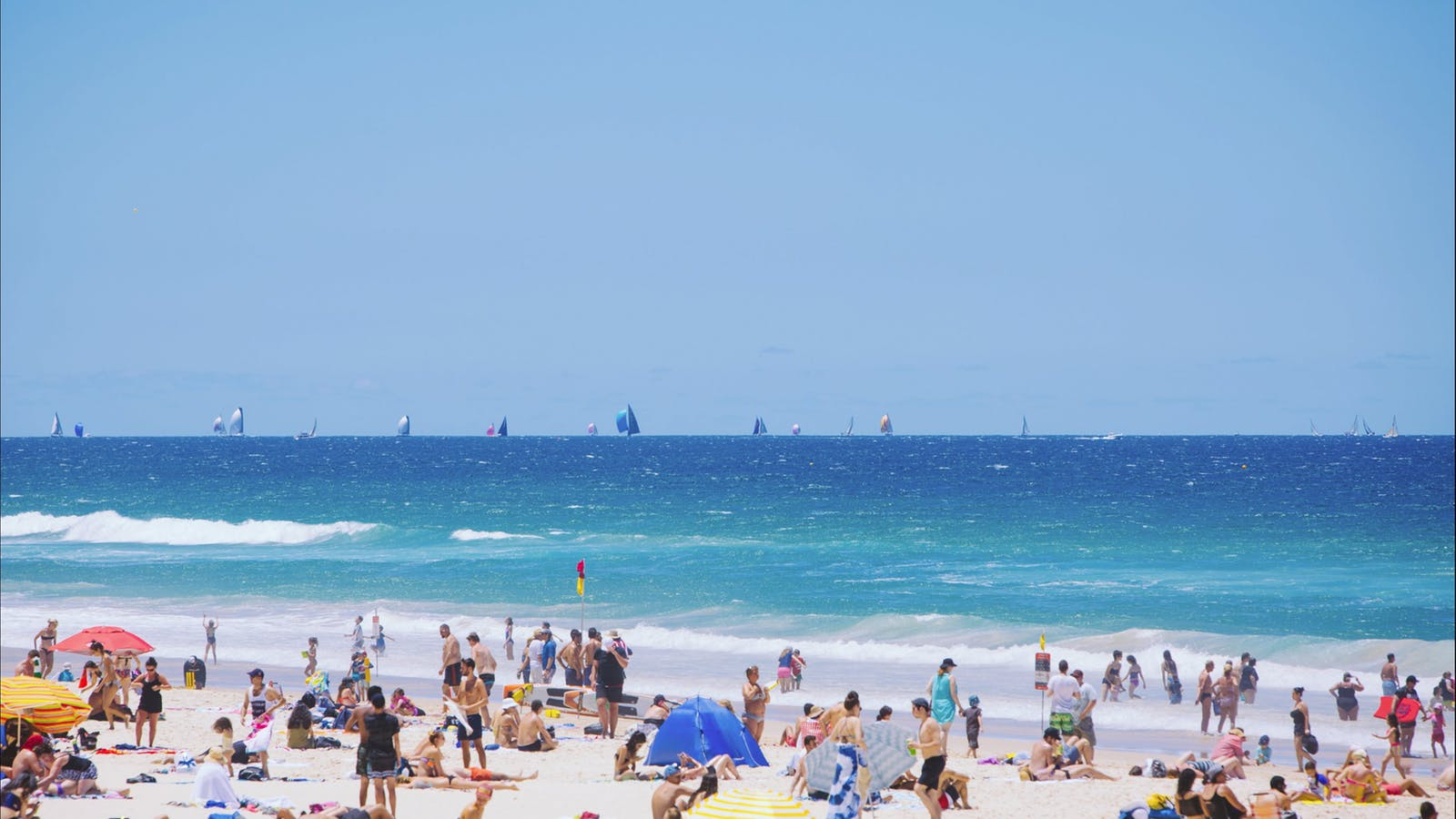 People at Surfers Paradise