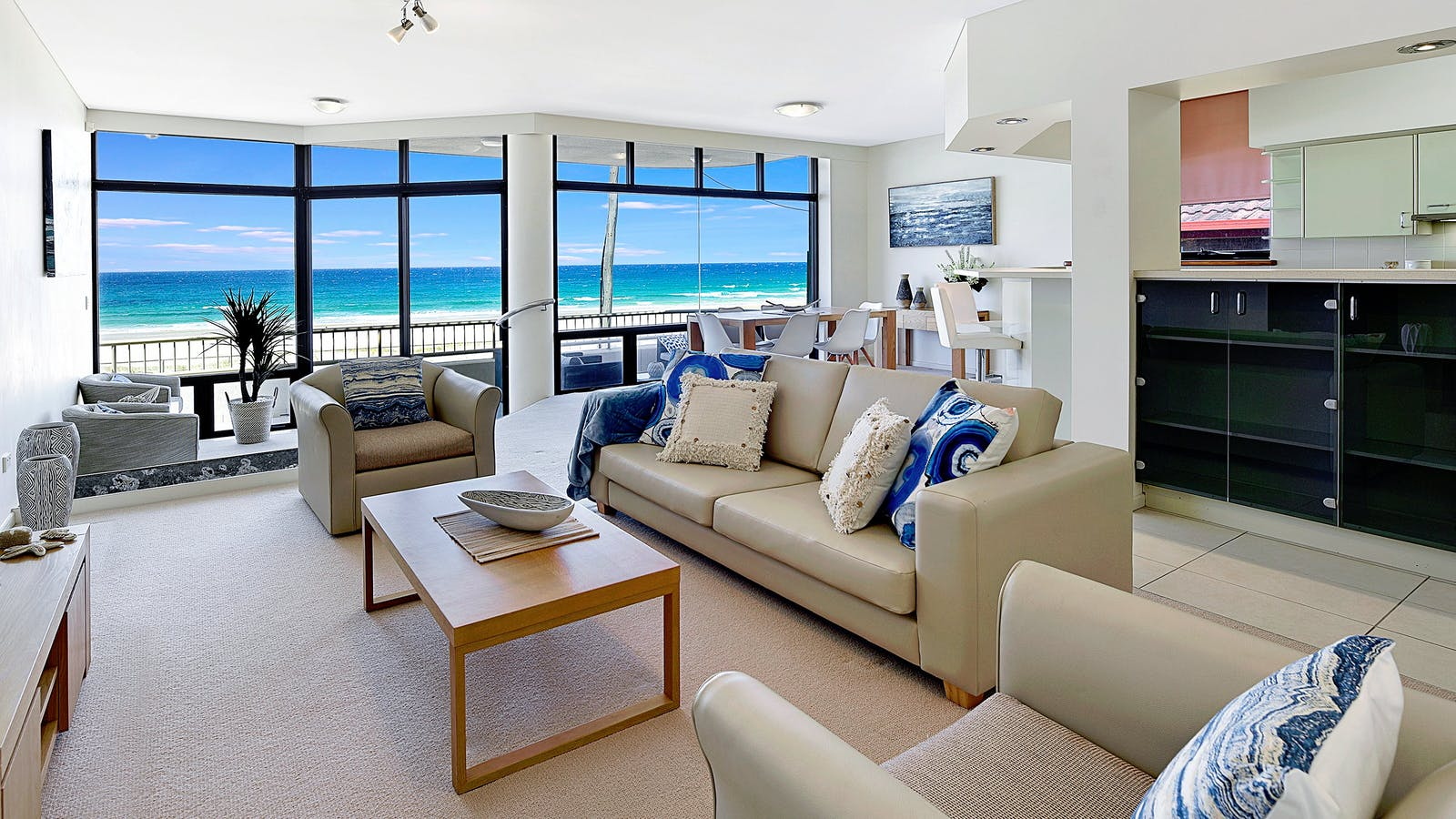 Lovely Living Room with Ocean Views