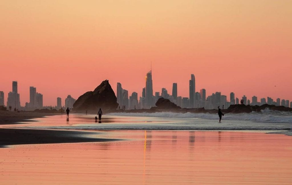Sunset at Currumbin Beach