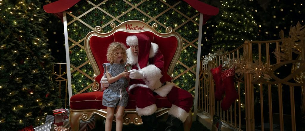 Sensory Santa with young girl
