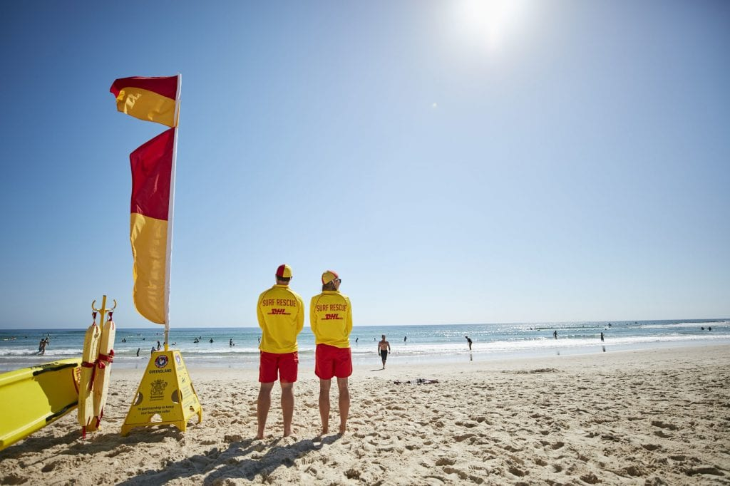 Lifeguards on Gold Coast beach