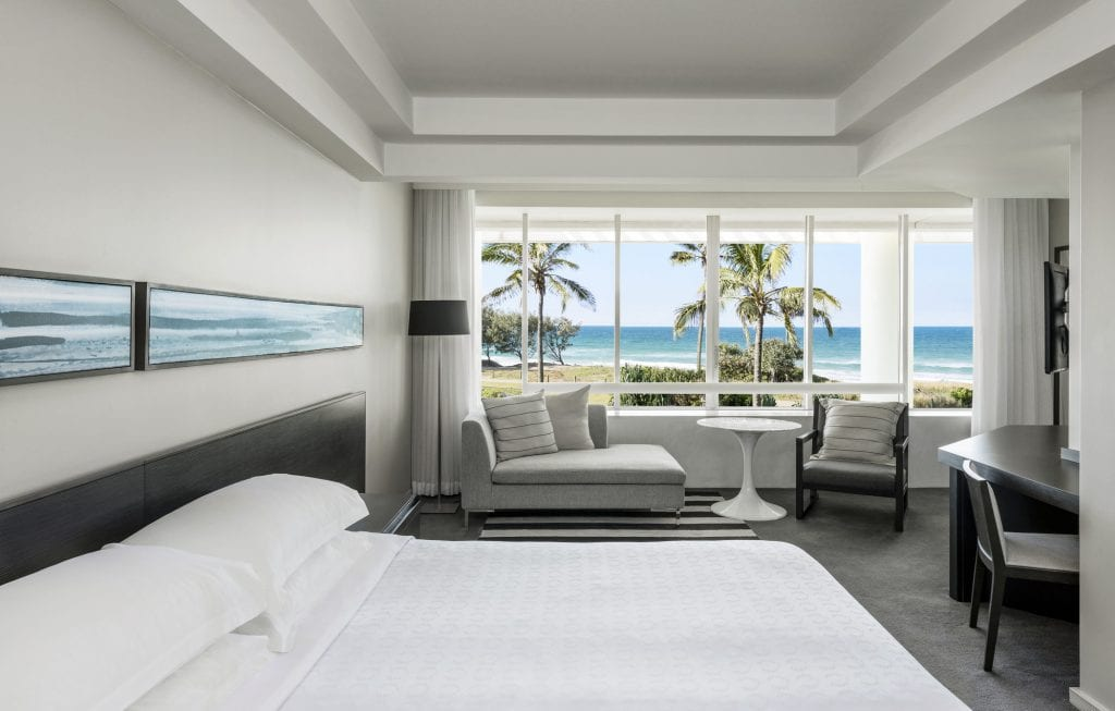 Ocean Premium King Room at Sheraton Grand Mirage Resort.