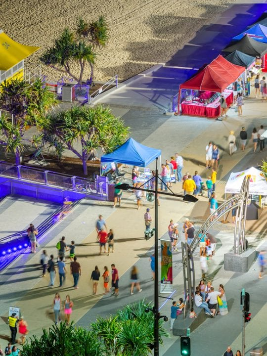 beachside markets at Surfers Paradise