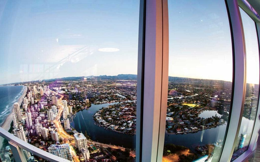 View of Gold Coast from Q1 SkyPoint