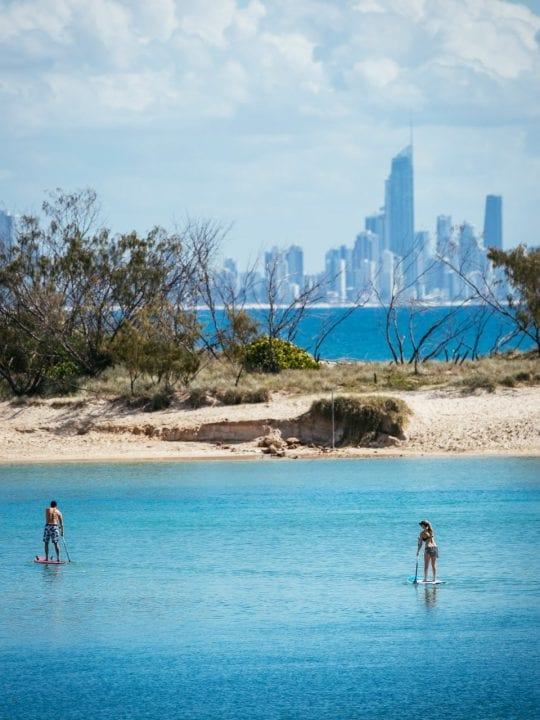 Stand-up paddleboarding gold coast