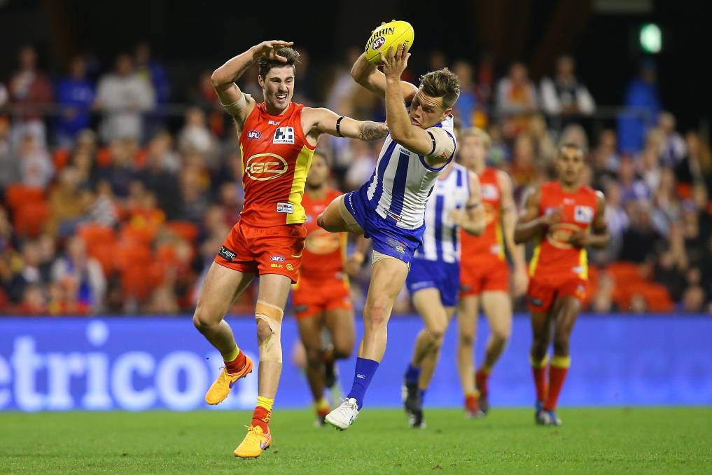 Gold Coast SUNS in action. Photo: Andrew Stafford.